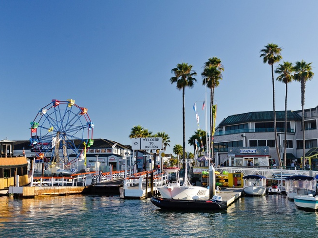 balboa pier actvities and ferris wheel