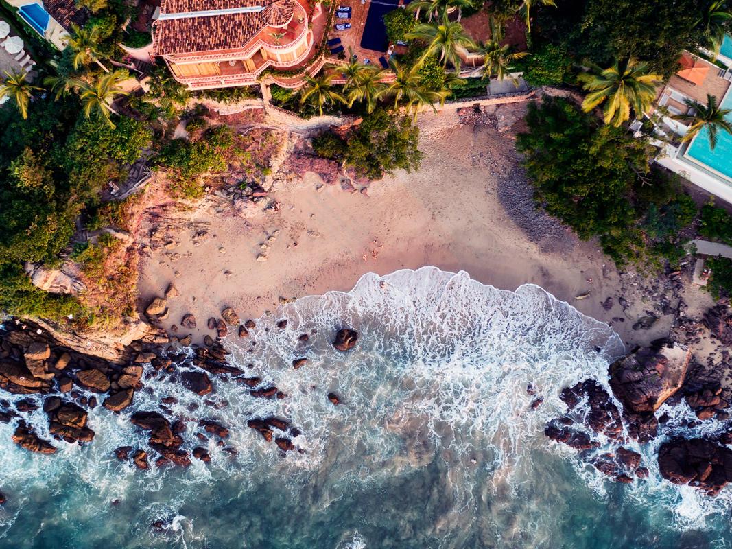 Vista de Arial de la playa