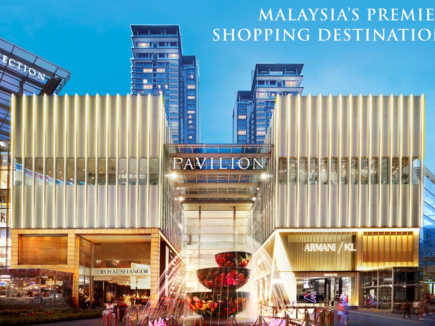 Facade of Pavilion Mall