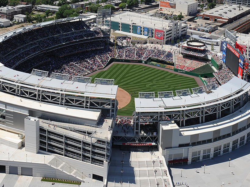 Nationals Park DC Aerial View