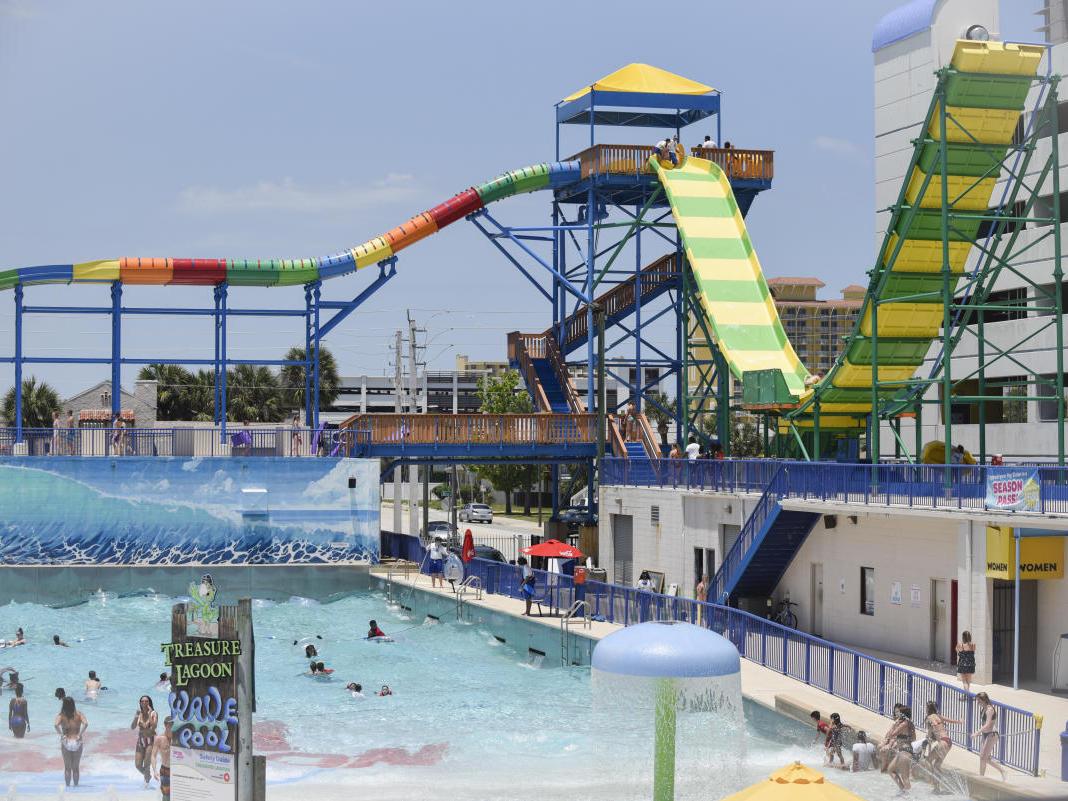 Daytona Lagoon Premier Water Park and wave pool.