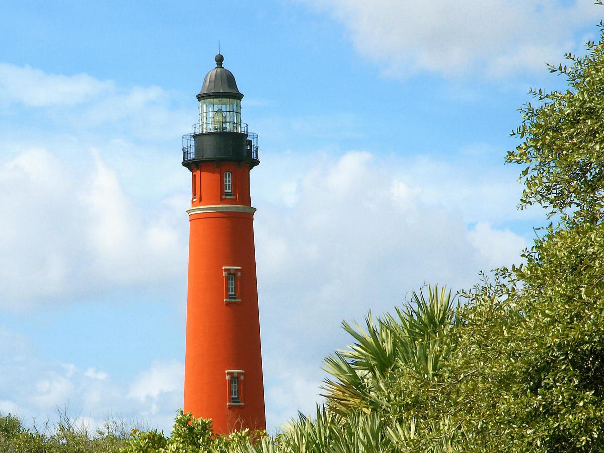 Orange lighthouse.