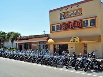 Harley motorcycle rental.