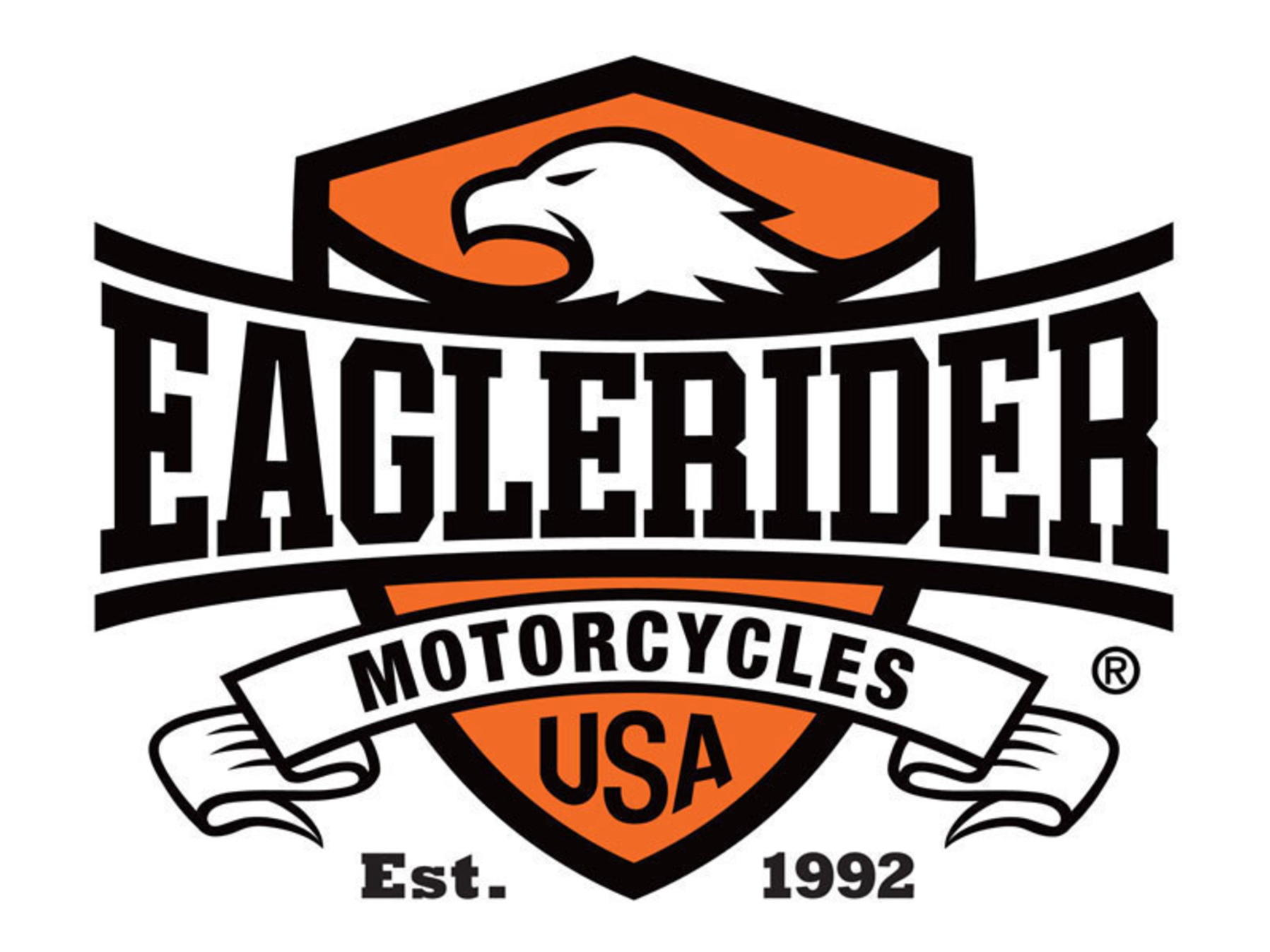 Logo for Eaglerider Motorcycles USA.