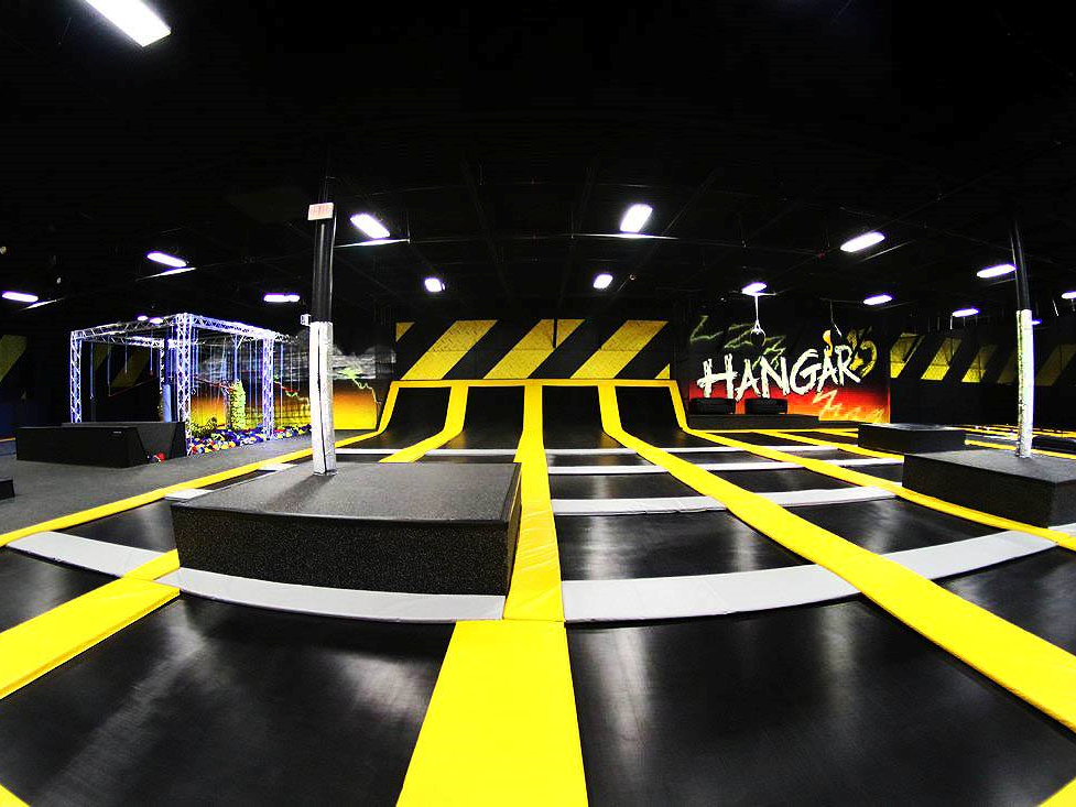 Interior of Hangar 15 Extreme Air Sports.
