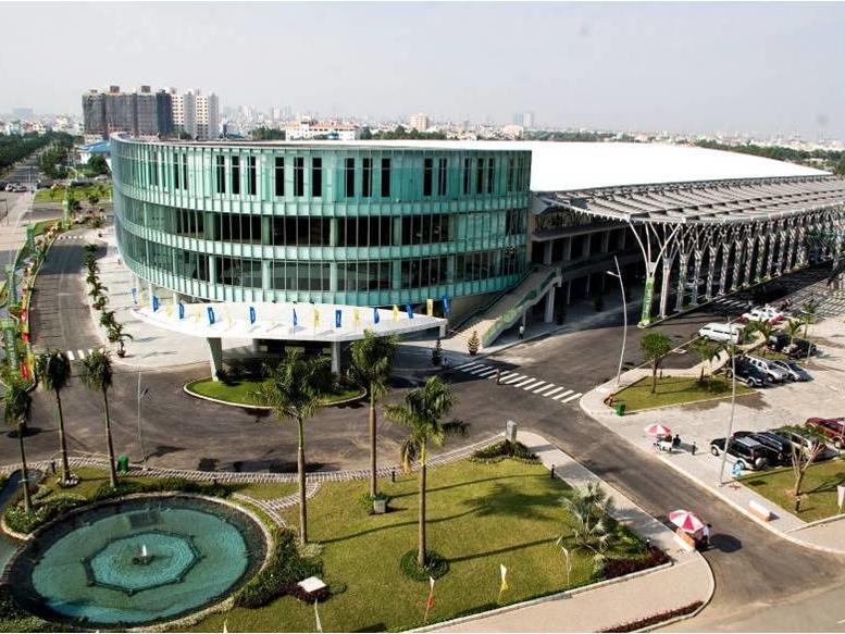 facade of convention centre in hai phong