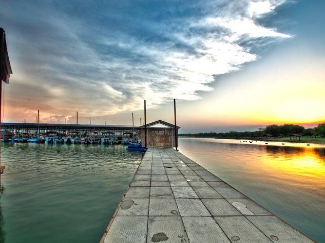 pier at marina with ocean views