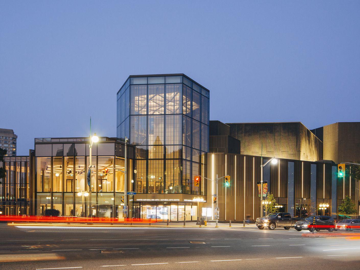 glass exterior of national arts centre