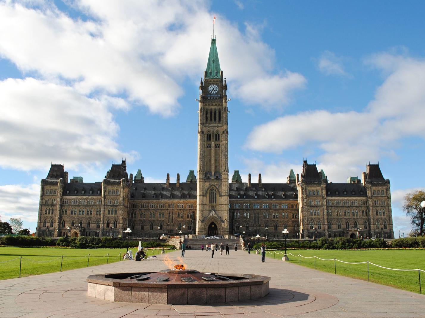brick exterior of parliament hill building