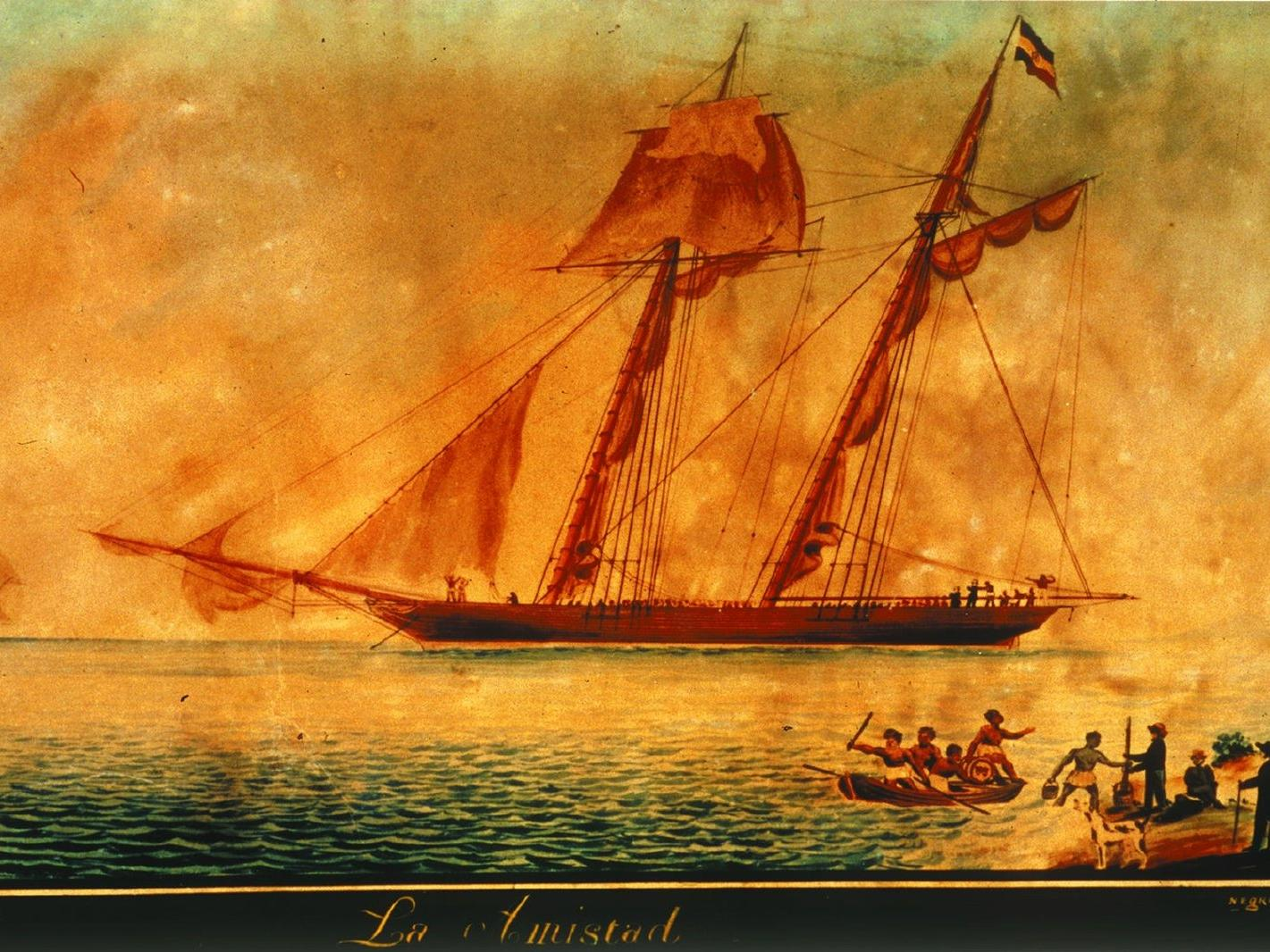painting of a burning ship