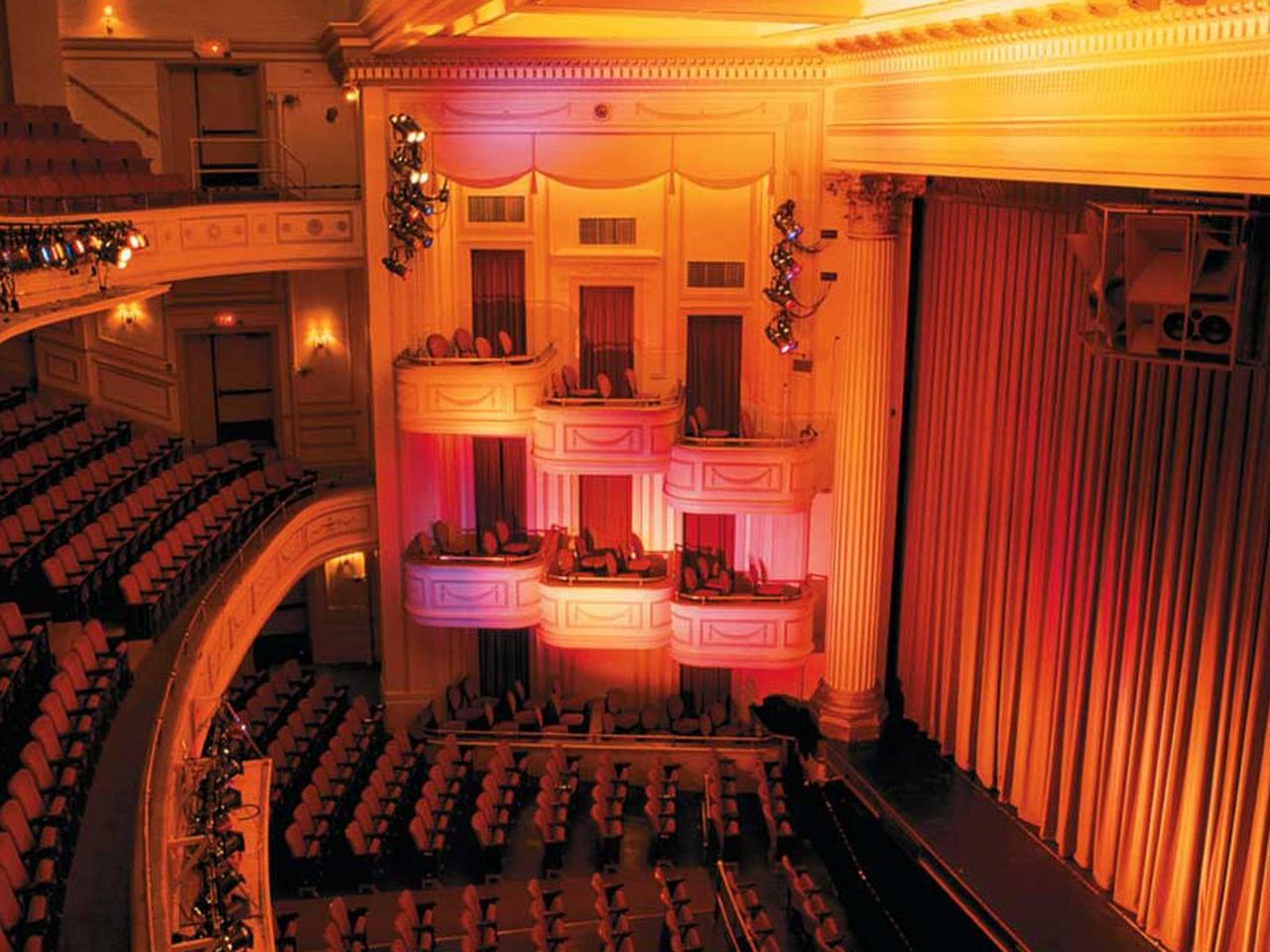 beautiful balcony seating at theatre