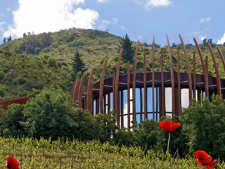 Exterior View of Clos Apalta Vineyard at NOI Blend Colchagua
