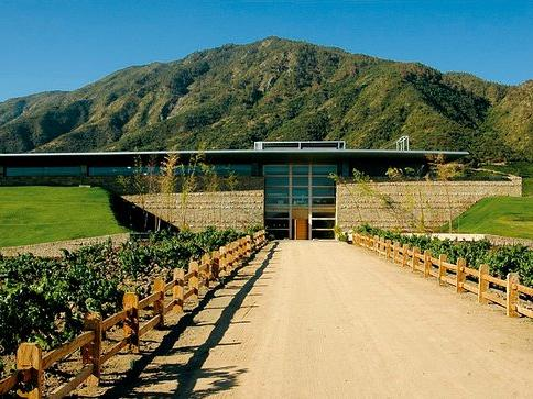 The entrance of the Montes Vineyard at NOI Blend Colchagua