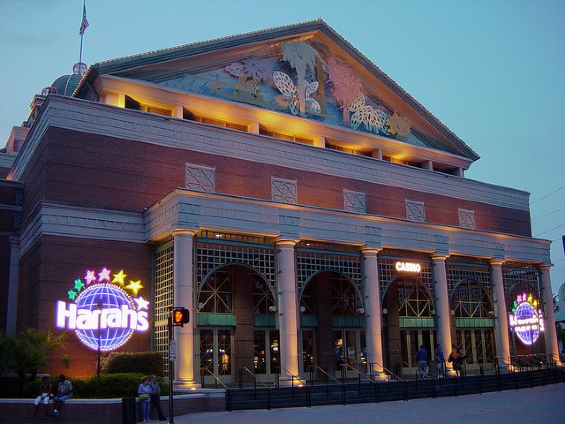 Exterior view of Harrah's Casino near the hotel