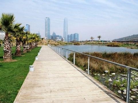 Beautiful Bicentennial Park near NOI Vitacura hotel