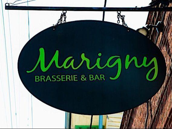 Marigny Brasserie Sign