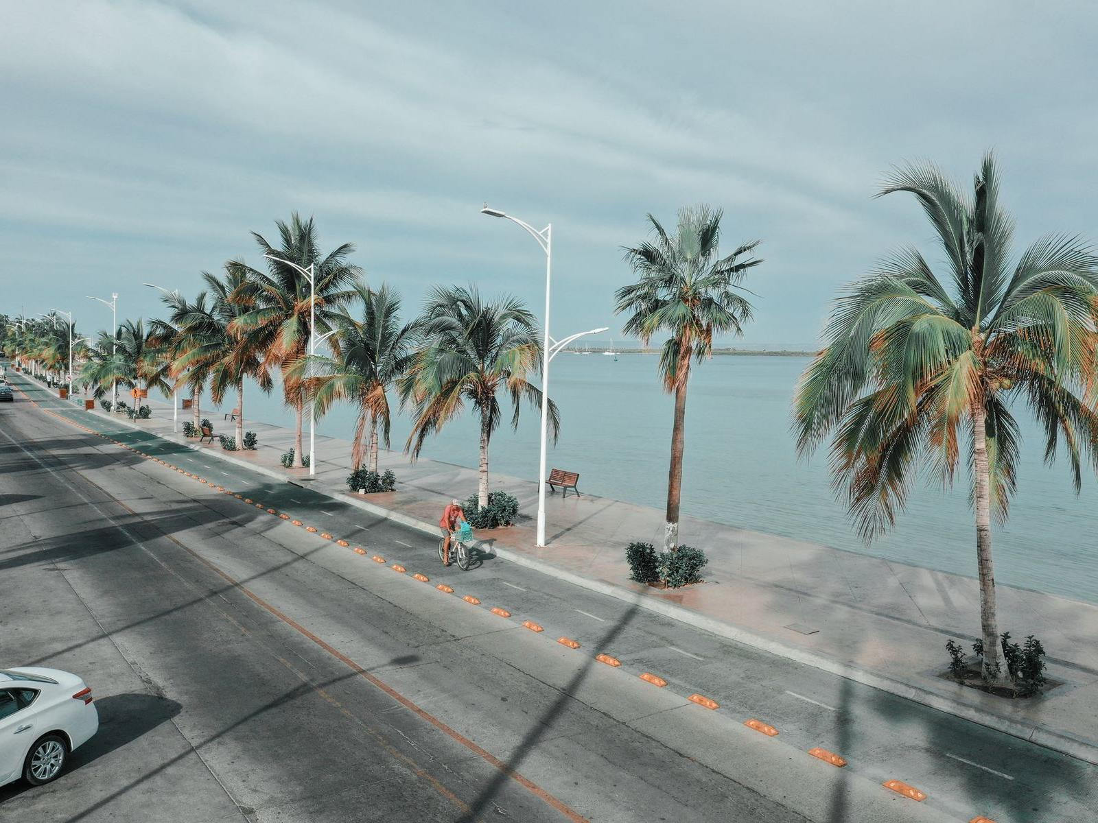 Road by the beach