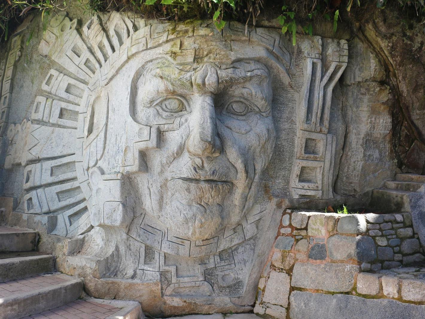 Ancient sculpture in Sculpture Circuit near Hotel Sumaq