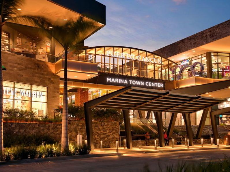 front of the marina town center building