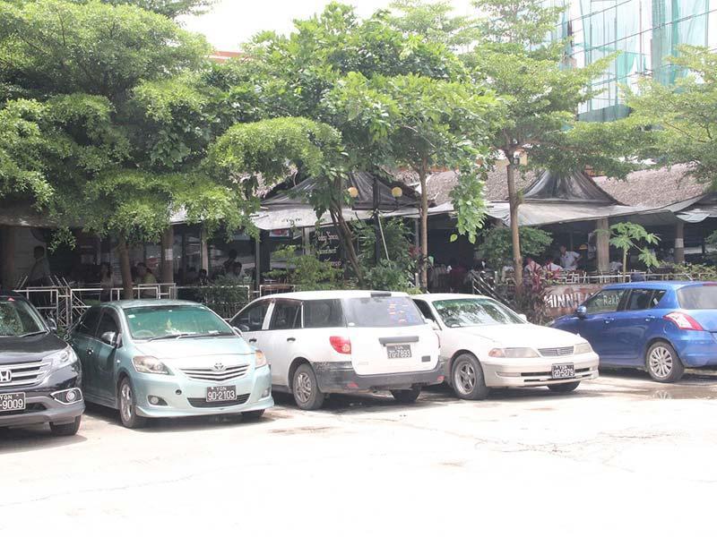 Parking area of Min lan (rakhine & seafood) near Chatrium Hotel Royal Lake Yangon