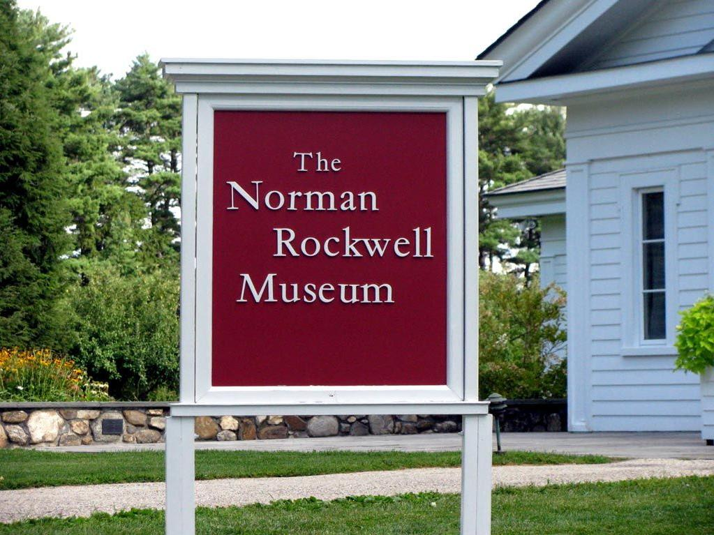 Norman Rockwell Museum signage