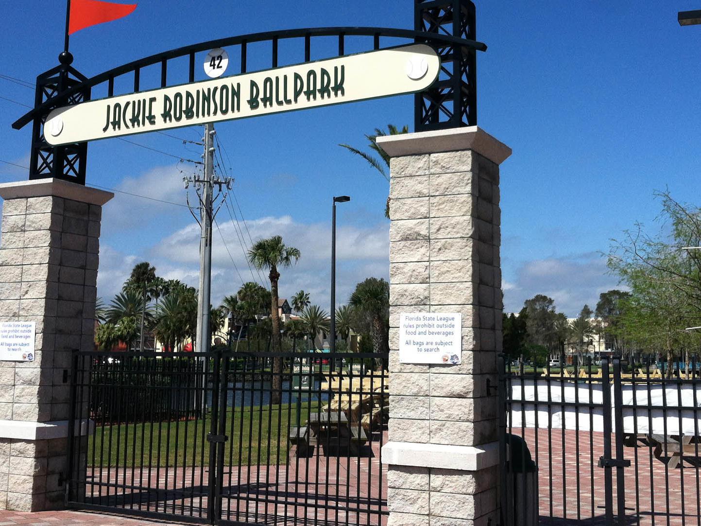 jackie robinson ballpark entrance
