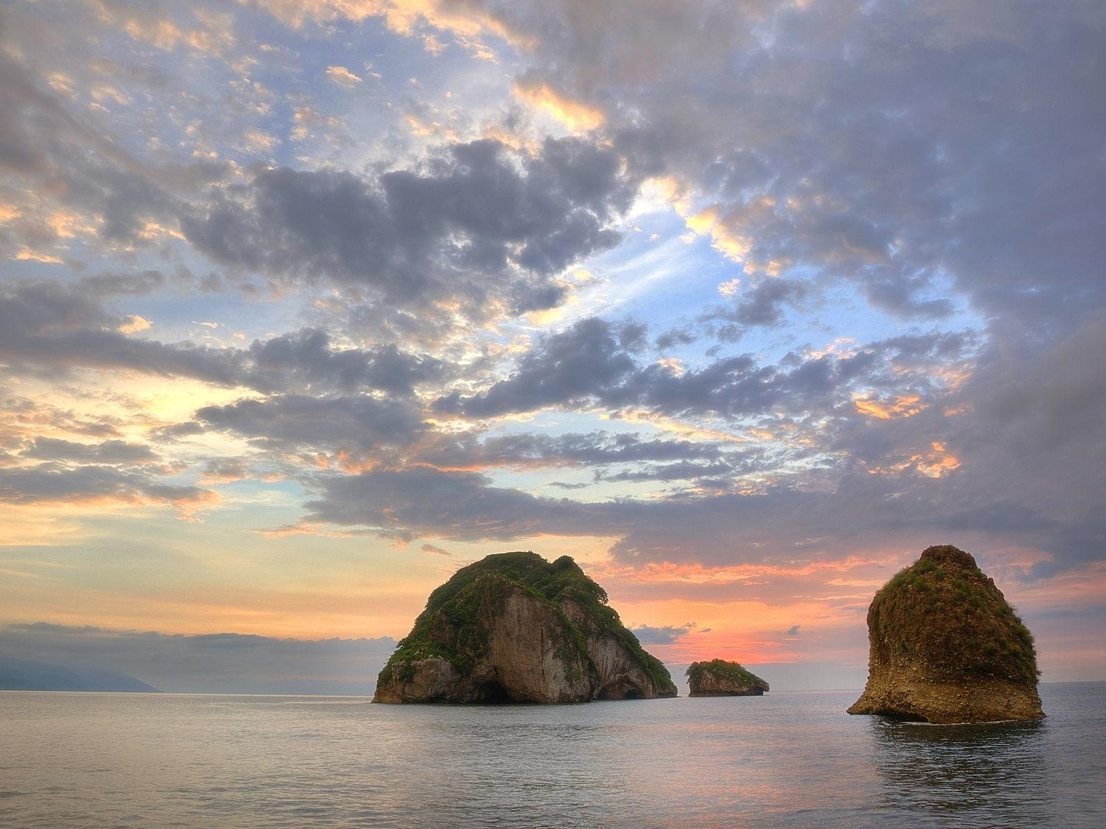 large rocks in the ocean