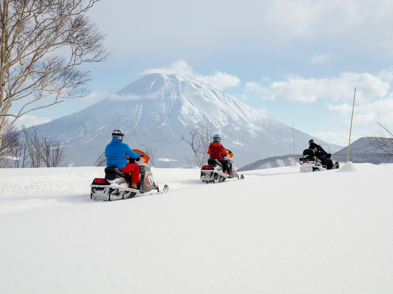 Snow mobiling in niseko near Chatrium Niseko Japan