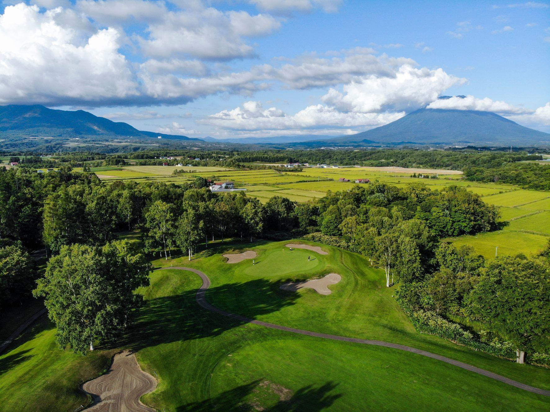 Aerial view of Niseko golf course near Chatrium Niseko Japan
