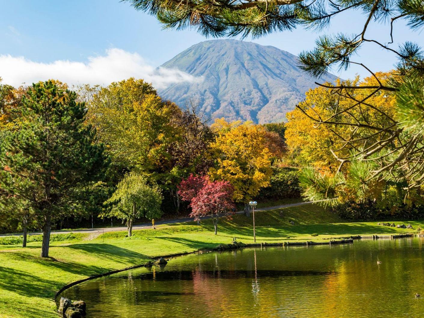 Great view of Fukidashi park near Chatrium Niseko Japan