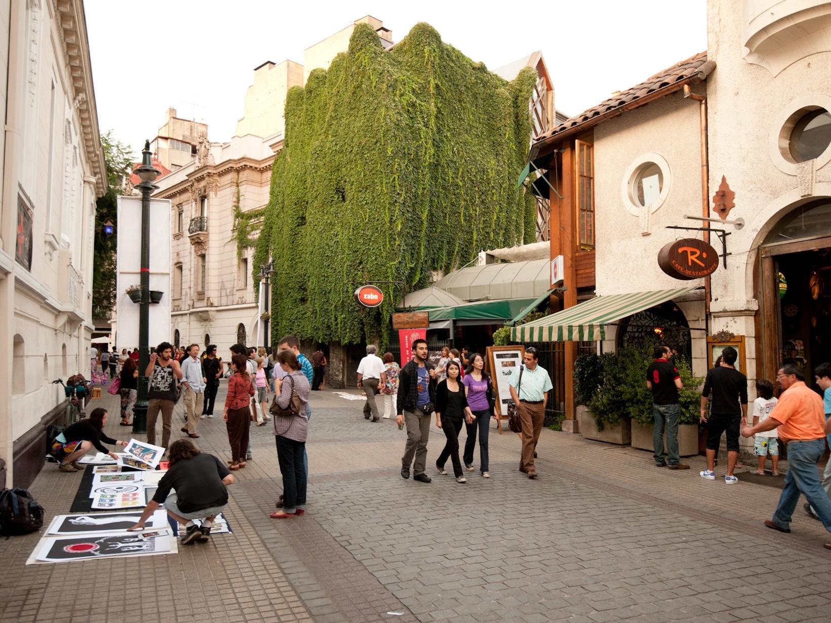 Lastarria neighborhood Santiago
