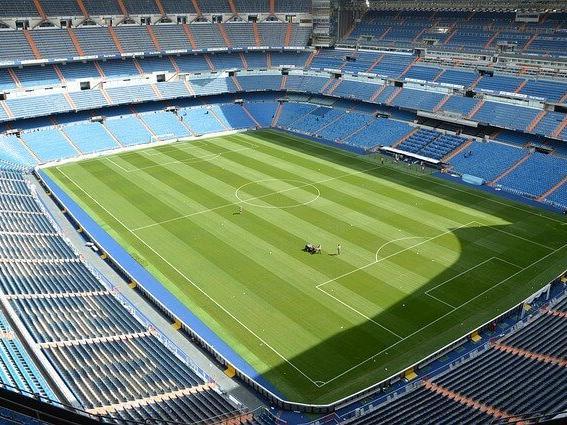 Santiago bernabue stadium playing field