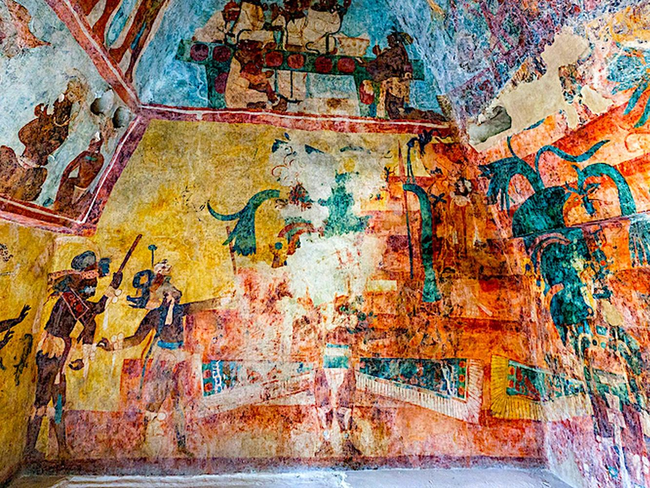 an ancient wall painting
