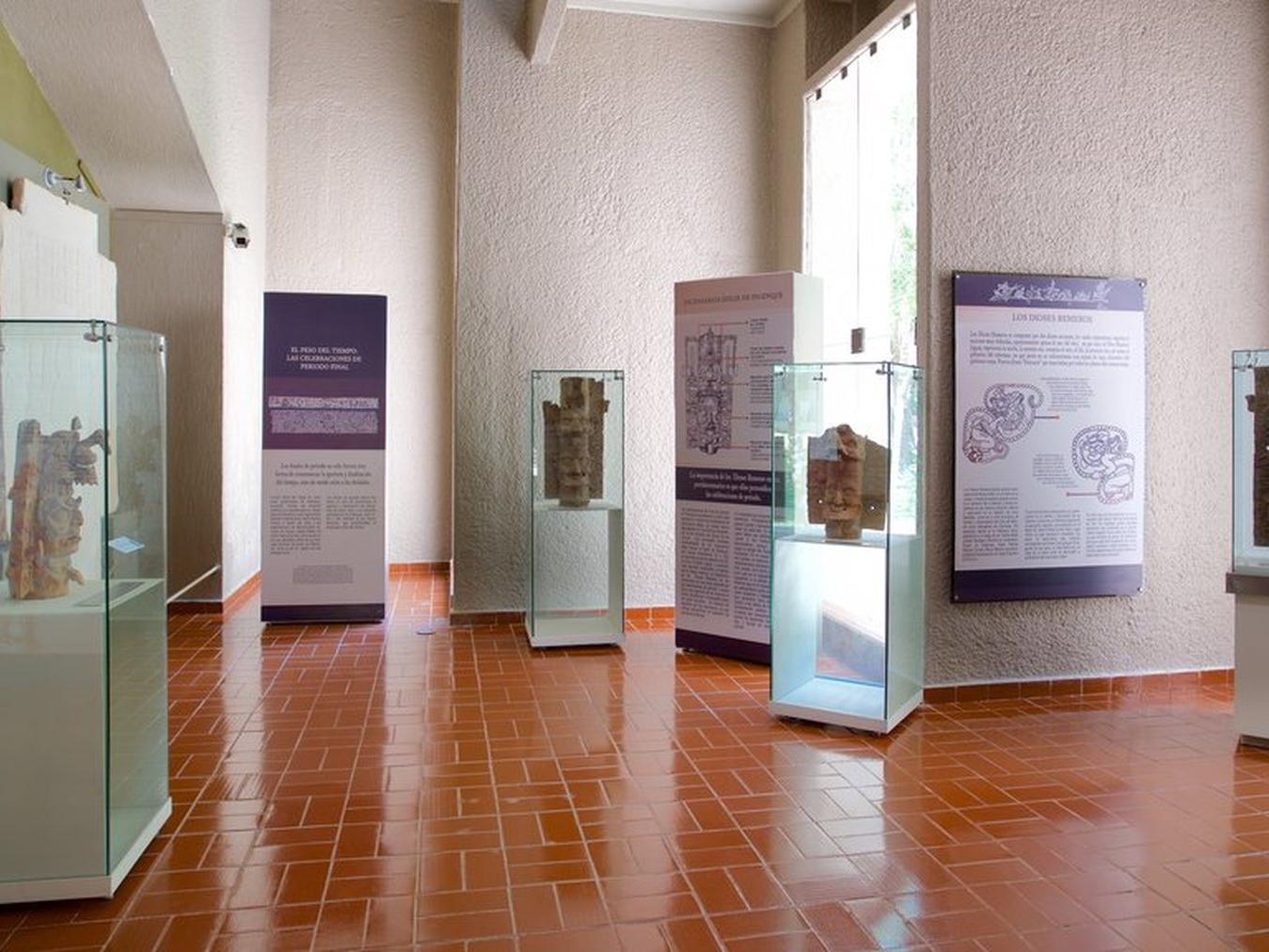 exhibits at a museum
