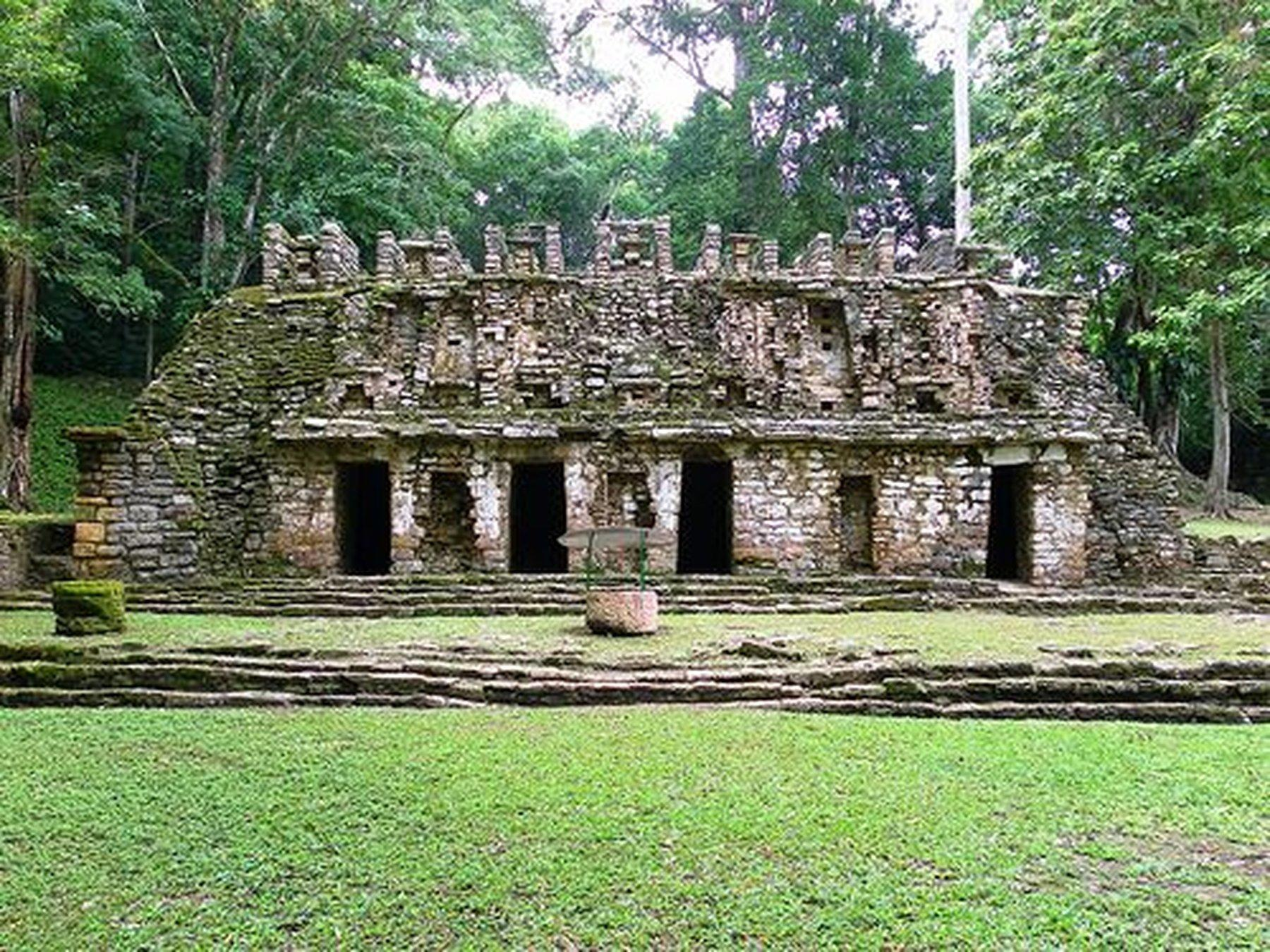 ancient structure at the yaxchilan archaeological zone