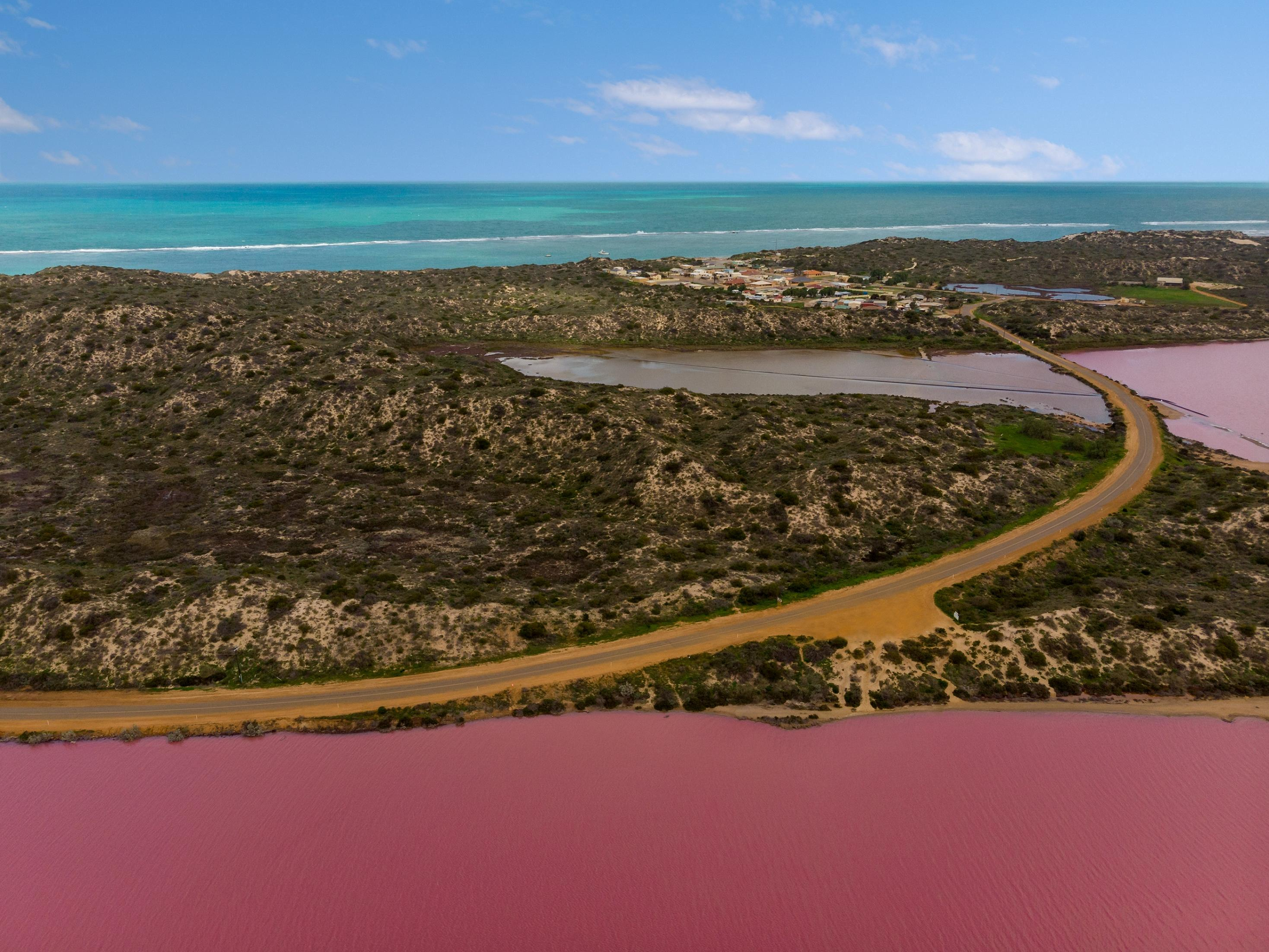 Pink Lake at Port Gregory