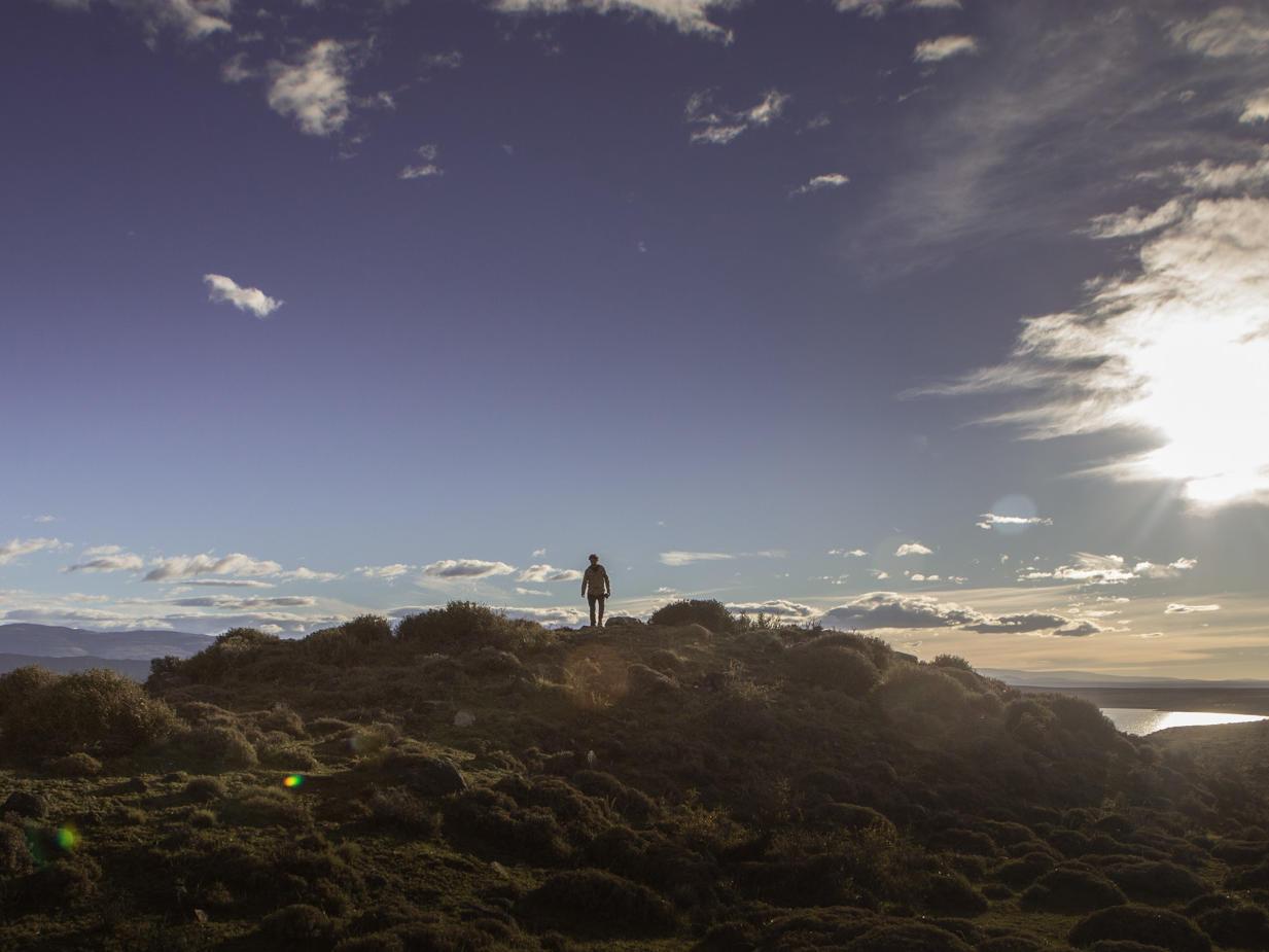 Hiking Dorotea Hill Patagonia