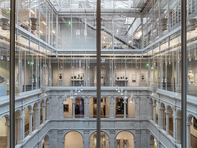 multiple floors at an art museum