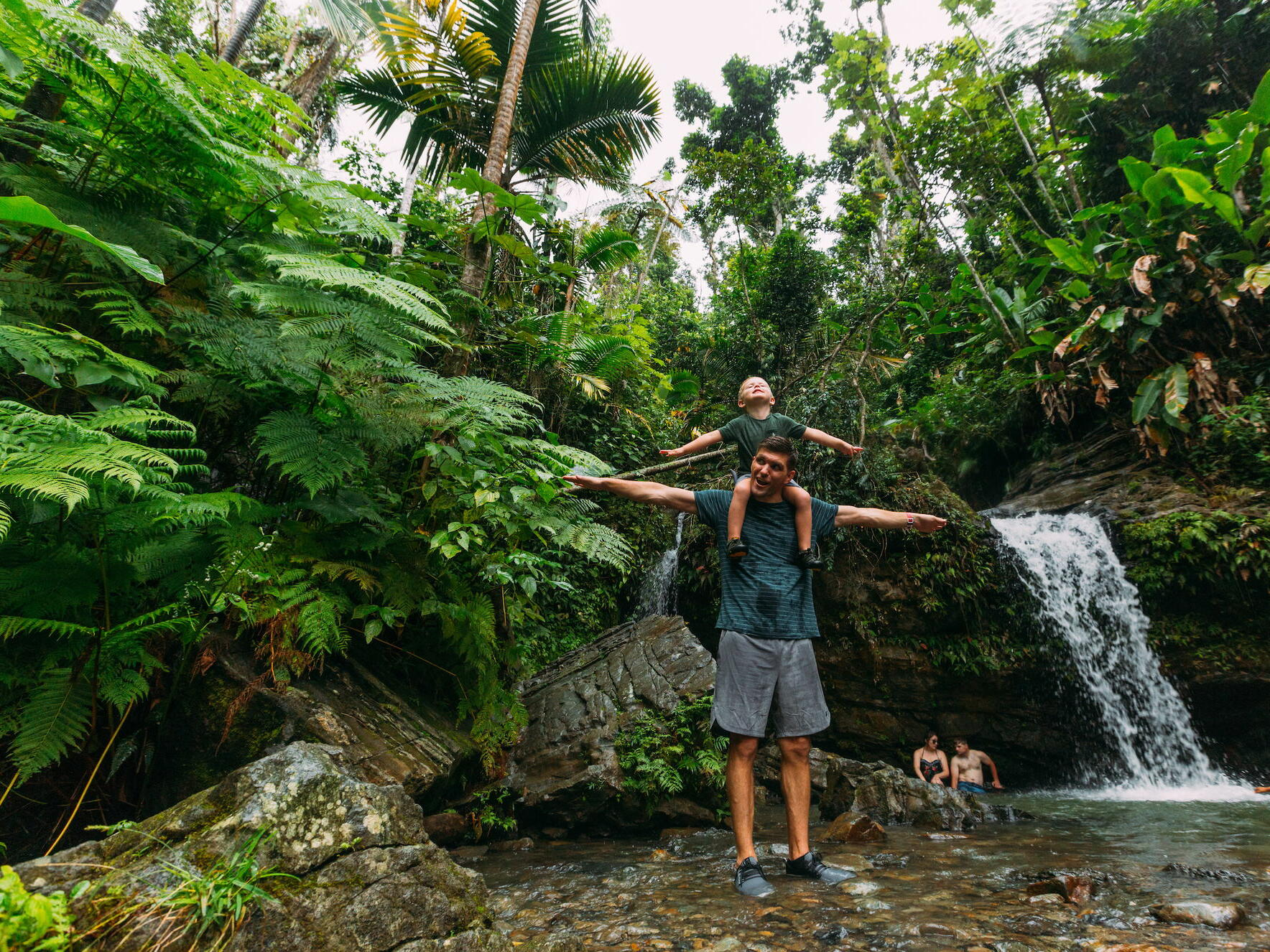 Family at El Yunque National Forest