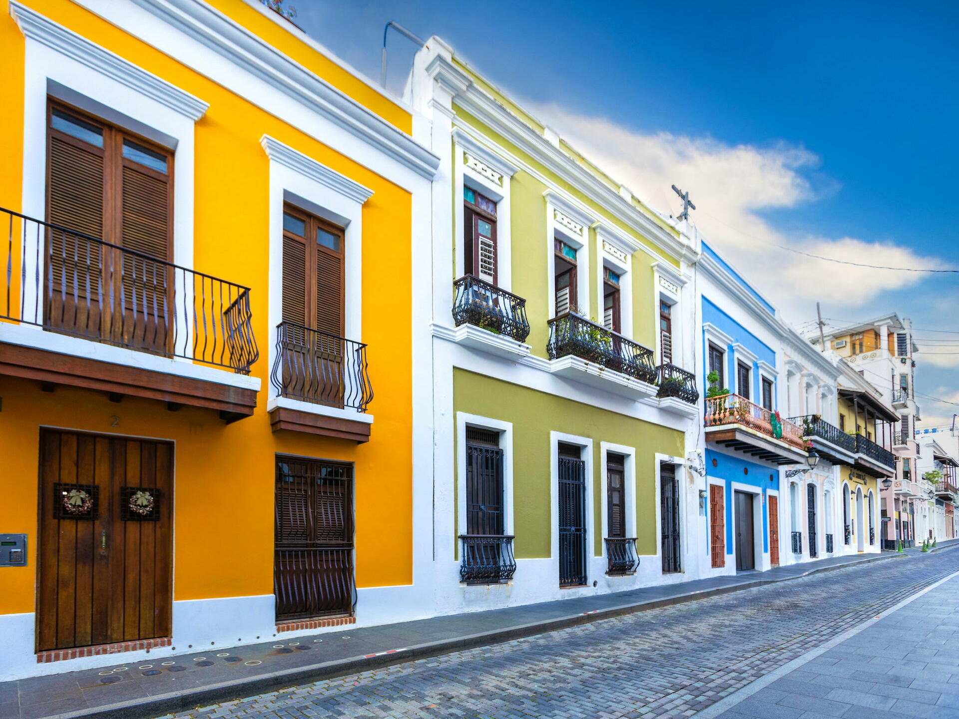 street of Old San Juan with colorful buildings