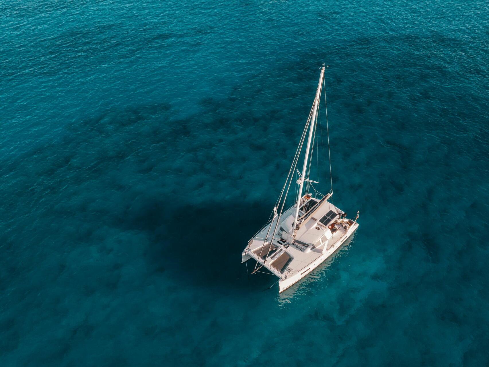 catamaran in ocean