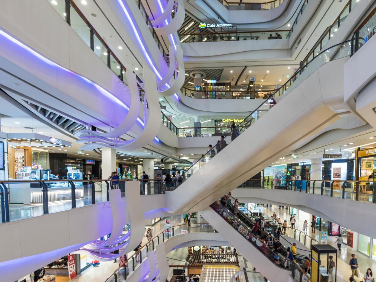 Inside of Central Plaza Grand Rama 9 shopping mall near Maitria Residence Rama 9 Bangkok