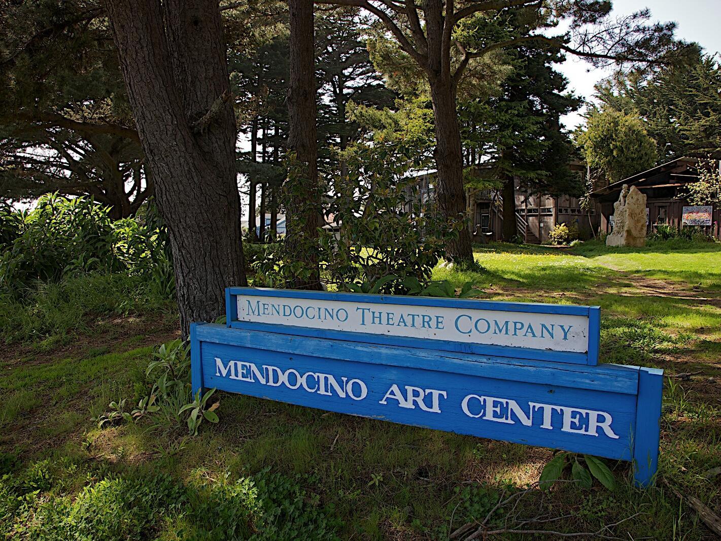 Mendocino Art Center name board near The Heritage House Resort