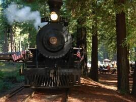 Skunk Train in Redwood near the Heritage House Resort