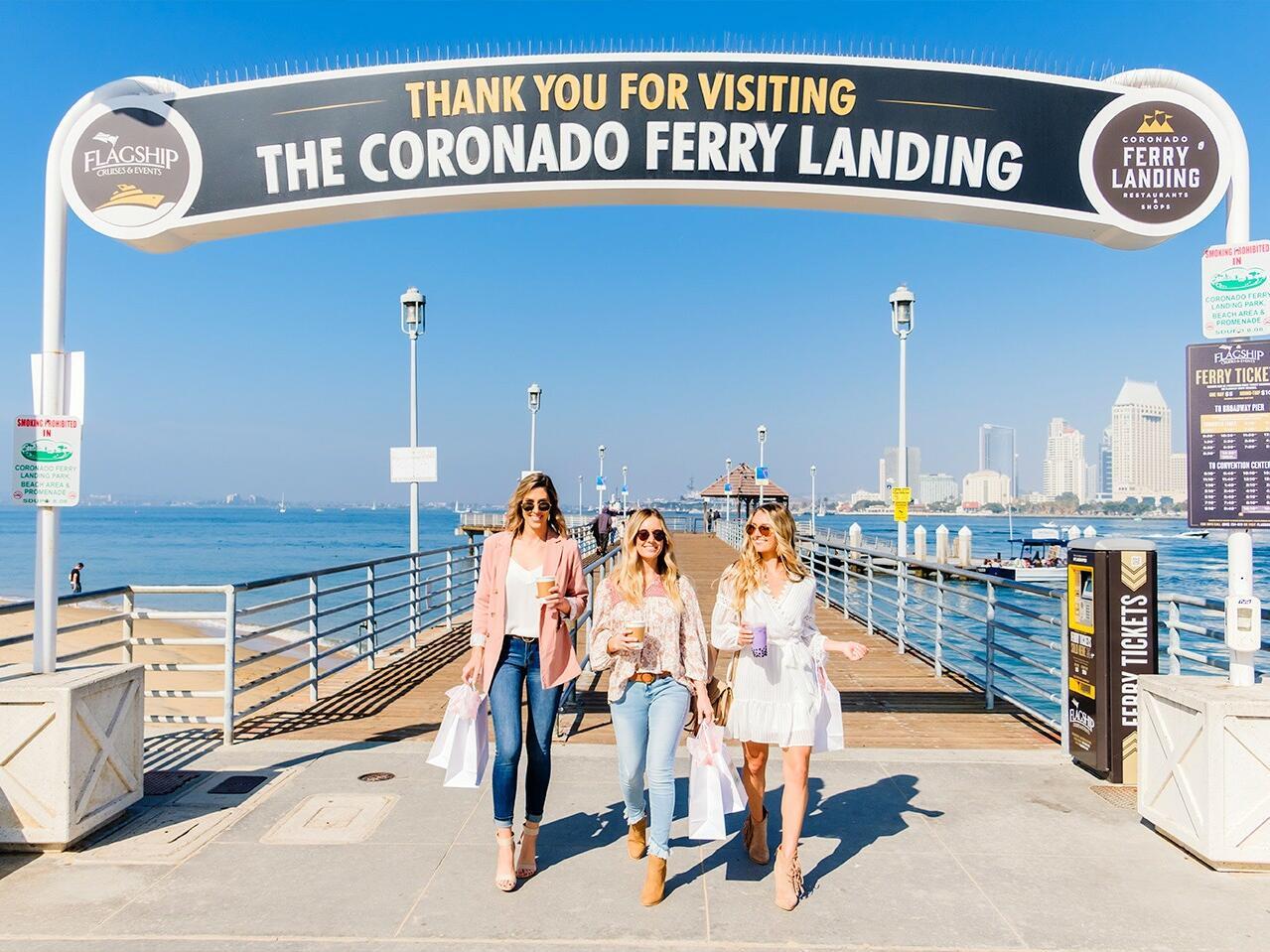 Friends having fun at the Coronado port
