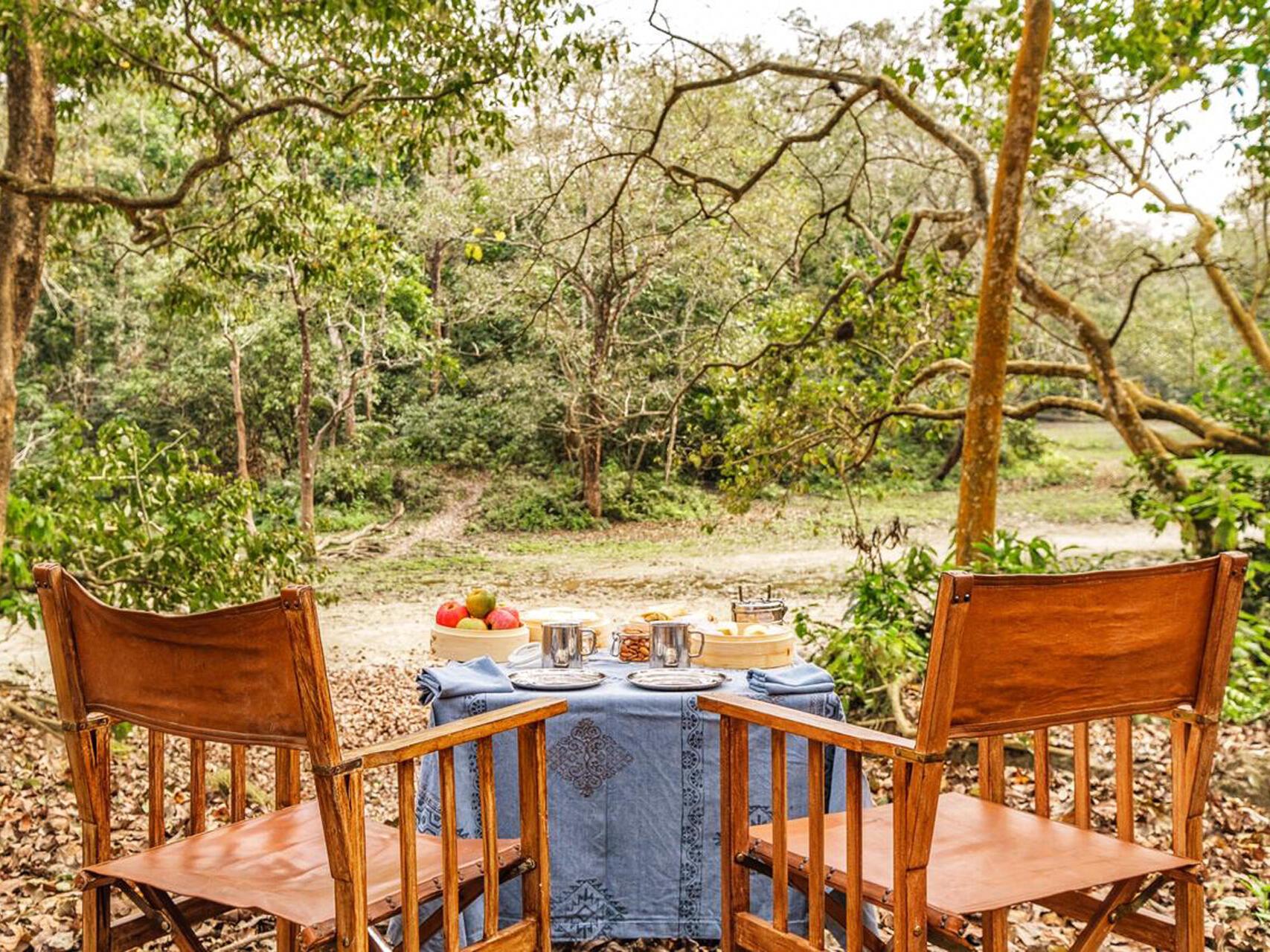 Fruit table at Meghauli Serai