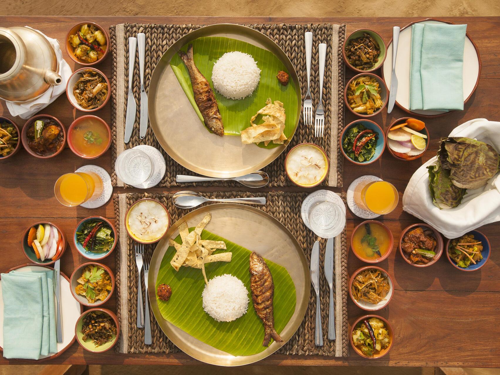 Tasty food table  at Meghauli Serai