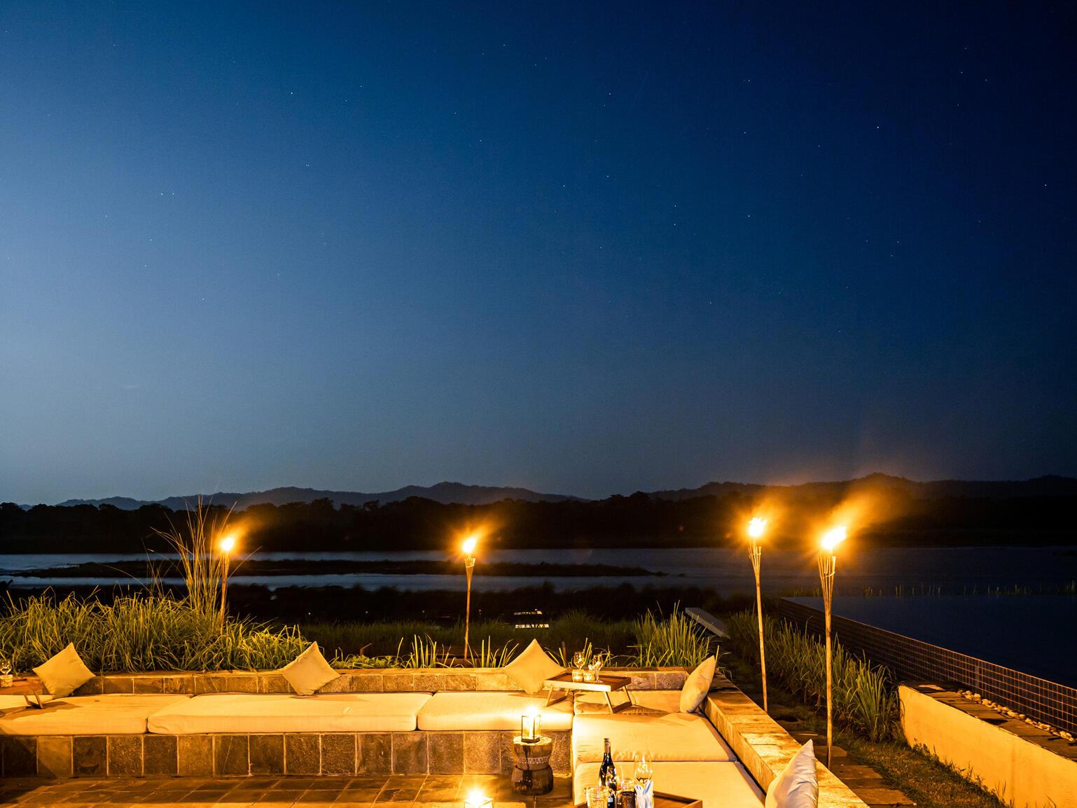 Beautiful surrounding evening  at Meghauli Serai