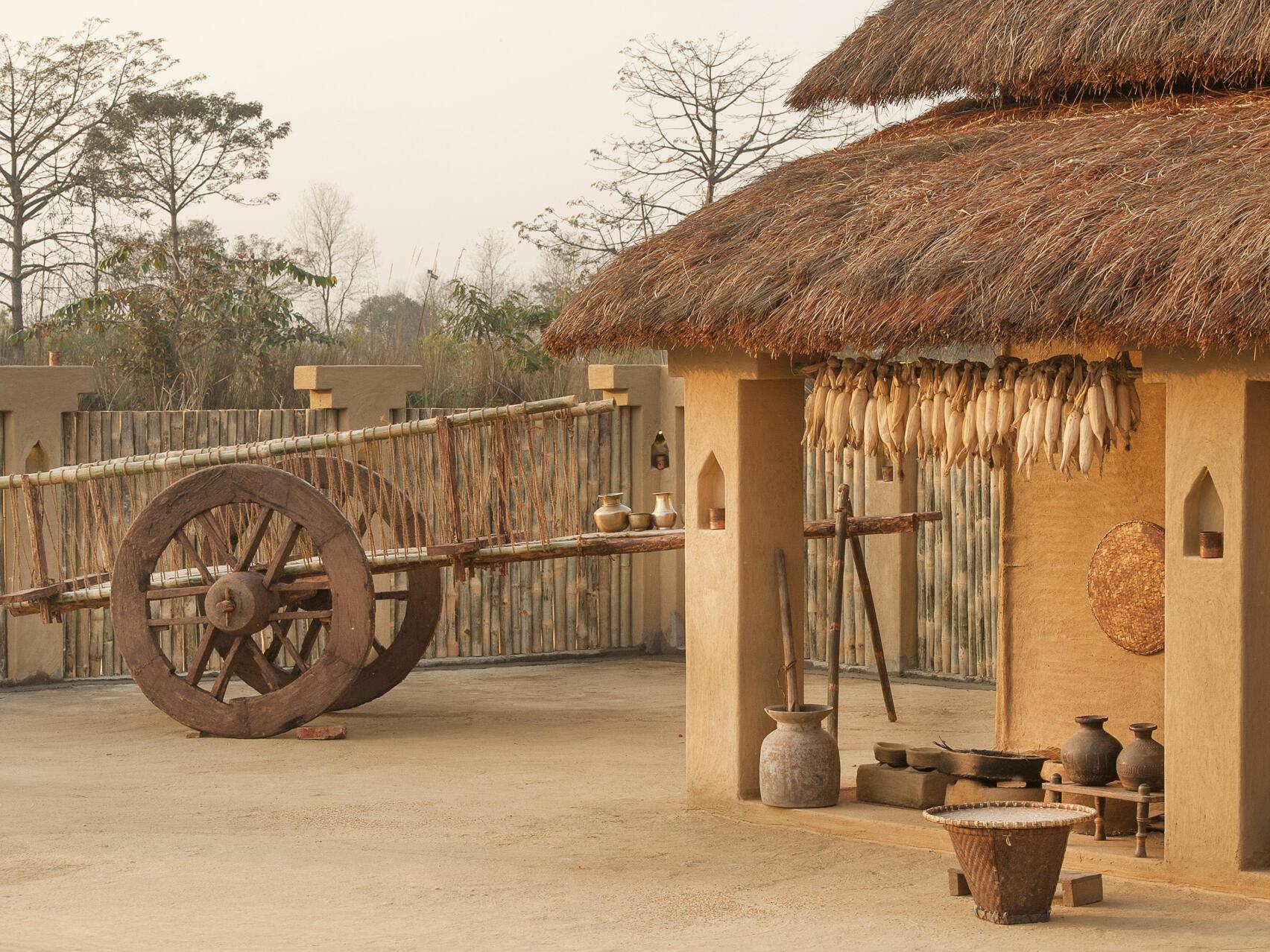 Like Village area  at Meghauli Serai