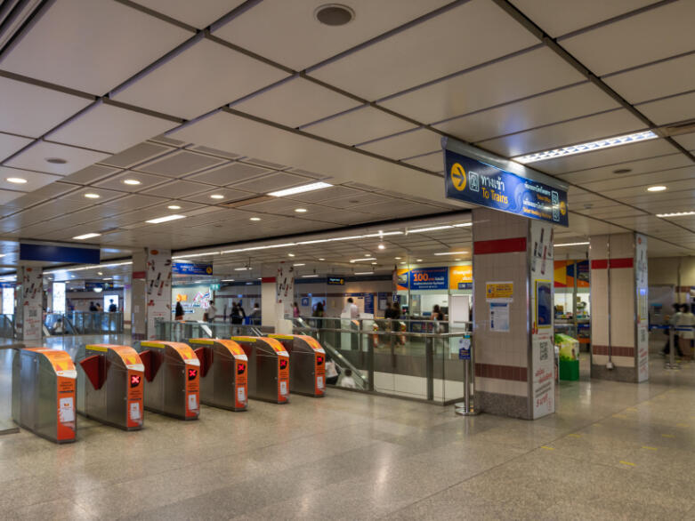 Phra Ram 9 MRT Station near Maitria Hotel Rama 9 Bangkok